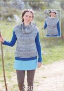 Sirdar Ladies Tops Knitting Pattern 7103  Super Chunky