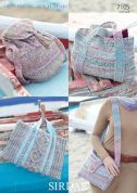 Sirdar Ladies Bags Knitting Pattern 7105  Chunky