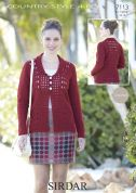 Sirdar Ladies Cardigan Country Style Crochet Pattern 7113  4 Ply