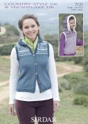 Sirdar Ladies & Girls Hooded Gilets Country Style Knitting Pattern 7121  DK