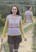 Sirdar Ladies Tank Top Country Style Knitting Pattern 7122  DK