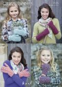 Hayfield Ladies & Girls Mittens & Wrist Warmers Bonus Knitting Pattern 7125  Aran