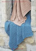 Hayfield Home Blankets Bonus Knitting Pattern 7134  Aran