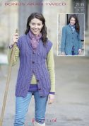 Hayfield Ladies Waistcoat & Cardigan Bonus Knitting Pattern 7135  Aran