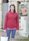 Hayfield Ladies & Mens Sweaters Bonus Knitting Pattern 7139  Aran