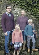 Hayfield Family Sweaters Bonus Knitting Pattern 7142  Aran