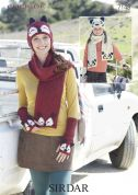 Sirdar Ladies & Girls Hats, Scarves & Wrist Warmers Click Knitting Pattern 7148  DK