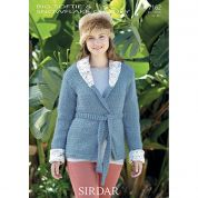 Sirdar Ladies Jacket Knitting Pattern 7162  Super Chunky