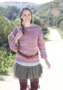 Sirdar Ladies Sweater Crofter Knitting Pattern 7165  DK