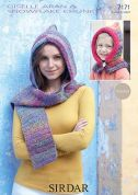Sirdar Ladies & Girls Hat & Hat Scarf Crochet Pattern 7171  Aran, Chunky