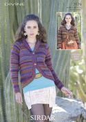 Sirdar Ladies Raglan Jackets Divine Knitting Pattern 7179  DK