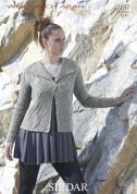 Sirdar Ladies Jacket Wool Rich Knitting Pattern 7187  Aran