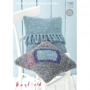 Hayfield Home Cushions Ripple Knitting Pattern 7200  Super Chunky