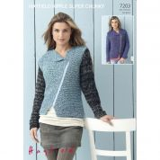 Hayfield Ladies Jackets Ripple Knitting Pattern 7203  Super Chunky