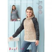 Hayfield Ladies Sweaters Ripple Knitting Pattern 7205  Super Chunky
