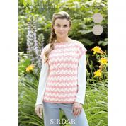 Sirdar Ladies Top Wash n Wear Crochet Pattern 7222  DK