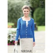 Sirdar Ladies Cardigan Country Style Knitting Pattern 7226  4 Ply