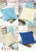 Hayfield Home Cushions With Wool Knitting Pattern 7260  Aran