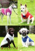 Hayfield Pet Dog Coats With Wool Knitting Pattern 7261  Aran