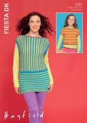 Hayfield Ladies & Girls Tops Fiesta Knitting Pattern 7287  DK