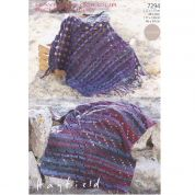 Hayfield Home Blankets Colour Rich Crochet Pattern 7294  Chunky