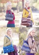 Hayfield Ladies Bags Colour Rich Knitting Pattern 7295  Chunky