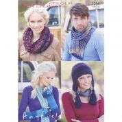 Hayfield Ladies & Mens Accessories Colour Rich Knitting Pattern 7296  Chunky