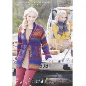 Hayfield Ladies Jacket & Mittens Colour Rich Knitting Pattern 7297  Chunky