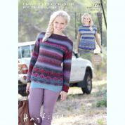Hayfield Ladies Sweater & Top Colour Rich Knitting Pattern 7299  Chunky
