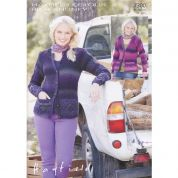 Hayfield Ladies Cardigans Colour Rich Knitting Pattern 7300  Chunky