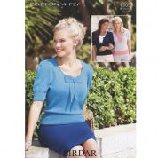 Sirdar Ladies Tops Cotton Knitting Pattern 7309  4 Ply