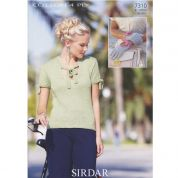Sirdar Ladies Top & Gloves Cotton Knitting Pattern 7310  4 Ply