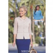Sirdar Ladies Cardigans Cotton Knitting Pattern 7311  4 Ply