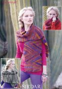 Sirdar Ladies Scarf, Snood & Wrap Divine Knitting Pattern 7330  DK