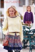 Sirdar Ladies & Girls Cardigans Wash 'n' Wear Knitting Pattern 7342  DK