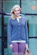 Sirdar Ladies Cardigan Country Style Knitting Pattern 7343  4 Ply