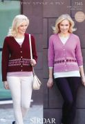 Sirdar Ladies Cardigans Country Style Knitting Pattern 7345  4 Ply