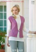 Sirdar Ladies Waistcoats Country Style Knitting Pattern 7346  DK