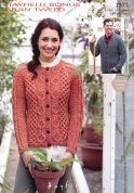 Hayfield Ladies & Mens Cardigans Bonus Knitting Pattern 7371  Aran