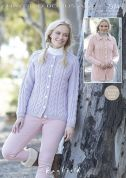 Hayfield Ladies Cardigans Bonus Knitting Pattern 7374  Aran