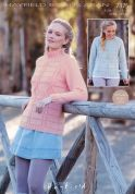 Hayfield Ladies Sweaters Bonus Knitting Pattern 7375  Aran