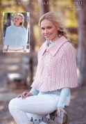 Hayfield Ladies Capes Bonus Knitting Pattern 7377  Aran
