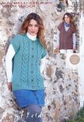 Hayfield Ladies Waistcoats With Wool Knitting Pattern 7382  Chunky