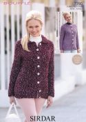 Sirdar Ladies Jackets Bouffle Knitting Pattern 7390  Chunky