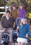 Sirdar Family Sweaters Harrap Tweed Knitting Pattern 7396  DK