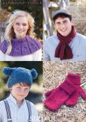 Sirdar Family Accessories Harrap Tweed Knitting Pattern 7398  DK