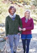 Hayfield Ladies & Mens Cardigans Knitting Pattern 7490  Chunky