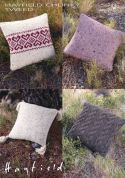 Hayfield Home Cushions Knitting Pattern 7496  Chunky