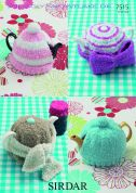 Sirdar Home Tea Cosies Snowflake Knitting Pattern 7515  DK