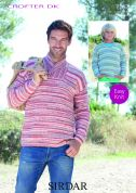 Sirdar Mens & Boys Sweaters Crofter Knitting Pattern 7707  DK